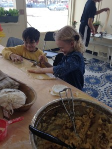 photo: kids cooking in the kitchen